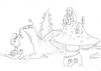 Christmas calendar WIP by Maitia