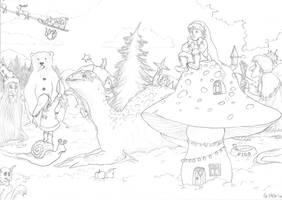 Christmas calendar WIP 2 by Maitia