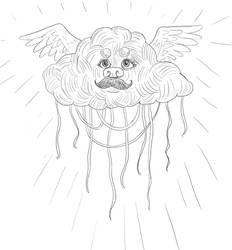 The Great Spaghetti Monster by Maitia