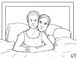 Klaine cuddles by Maitia