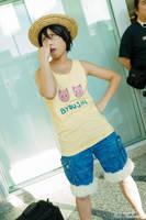 One Piece: Flashback Kid Luffy by JoLuffiroSauce