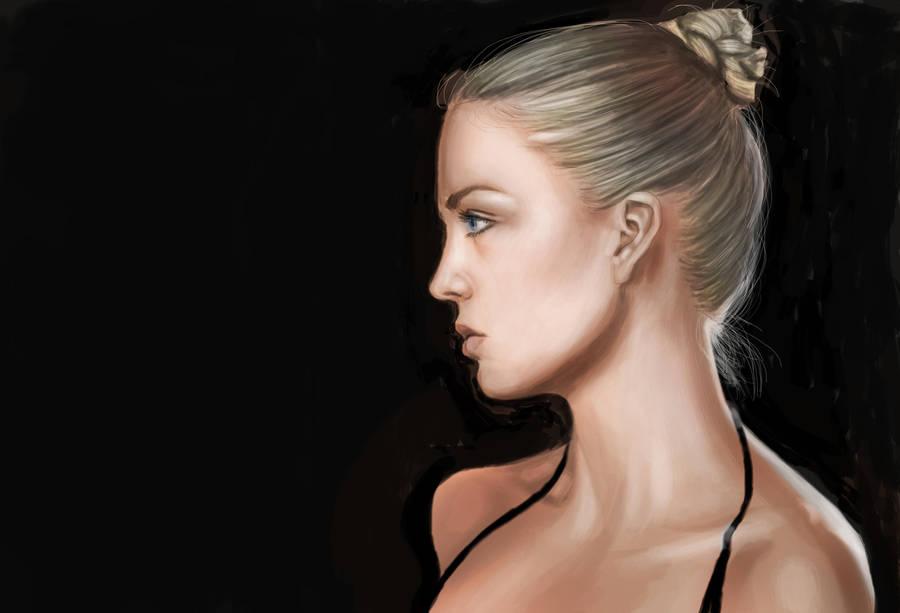 Woman Study by KennBaker