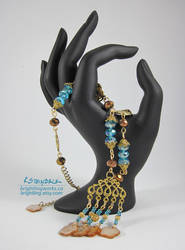 Cinnamon and Cyan Necklace by brightling