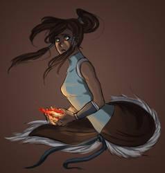 Korra in the Dark by Fushi-Chou
