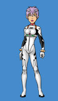 Paris as Rei Ayanami by BloodyWilliam