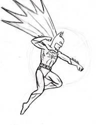 X-mas gift sketch: Batman by BloodyWilliam