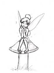 X-mas gift sketch: Tinkerbell by BloodyWilliam