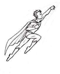 X-mas gift sketch: Superman by BloodyWilliam