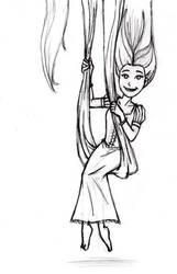X-mas gift sketch: Rapunzel by BloodyWilliam
