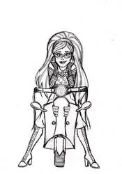 X-mas gift sketch: Ghoulia by BloodyWilliam