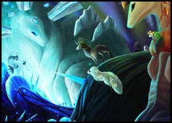 Gathered By Crystal Light (YCH)(Trade) by GlacierDragon