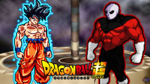 [Comm] DBS Goku vs Jiren Wallpaper by Xerex-Kai