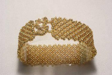 Golden Net Bracelet by kufka