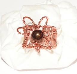 Copper Flower Ring by kufka