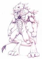 Dragon Anthro by Fox-Dev