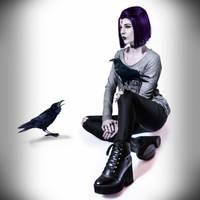 Casual Raven [Fanart version] by FaerieBlossom