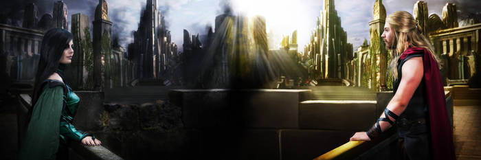 Asgardian Royality [Hela and Thor Cosplay] by FaerieBlossom