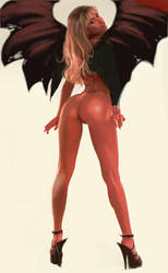 Tiffany Mynx devil by kirbynasty