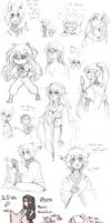 Pokimono Sketch Dump 13 by loverofscythe