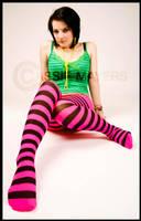 Carly Stripey Foot by Casslass