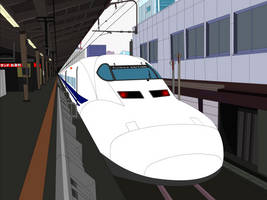 Shinkansen at Tokyo Station by TurboJUK