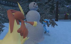 Riolu's Snowman by TurboJUK