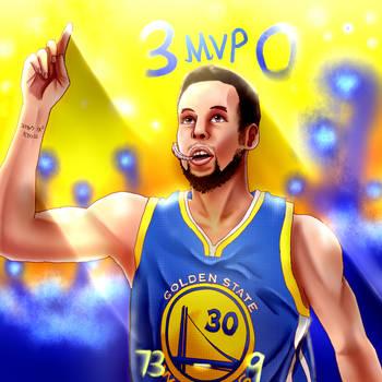 Stephen Curry The MVP by Josiah23Art