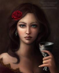 Riona Cousland: A Portrait by DragonReine
