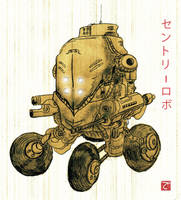 Robo Sentry by cheshirecatart
