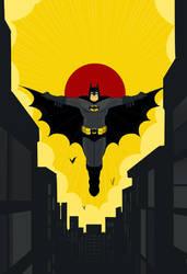 Batman by cheshirecatart