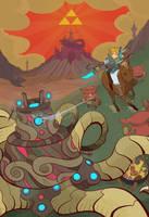 Zelda: Breath of the Wild by cheshirecatart