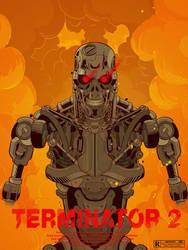 Terminator 2 by cheshirecatart