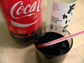 Shochu and Coke by plasmadis