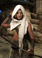 Wasteland archer by Gwasanee