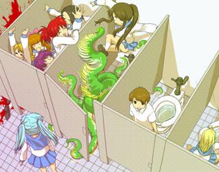 The girls' bathroom by periwinkleimp