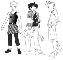 Monster High male fashion by periwinkleimp