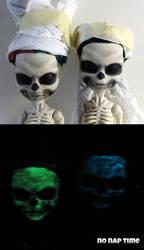 Glow in the Dark Skelitas by periwinkleimp