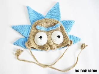 Rick Sanchez Super Fan crochet hat by periwinkleimp