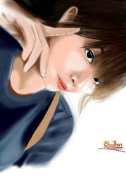Cute Girl sketch by ELjhonQuin