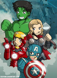 Avengers Assemble Group 1 by desfunk