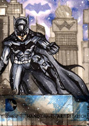 DC NEW 52 Batman Sketchcard by wheels9696