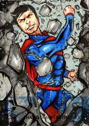 DC NEW 52 SupermanSkechcard by wheels9696