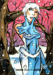 DC NEW 52 Ice sketchcard by wheels9696
