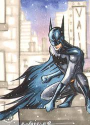 Batman sketch card for Vail by wheels9696