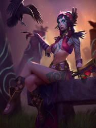 Scarlet Sorceress Morrigan by texahol
