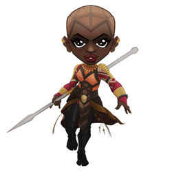 GENERAL OKOYE Chibi by BCXart