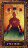 Major Arcana - VII - Dark Druid by Loupii