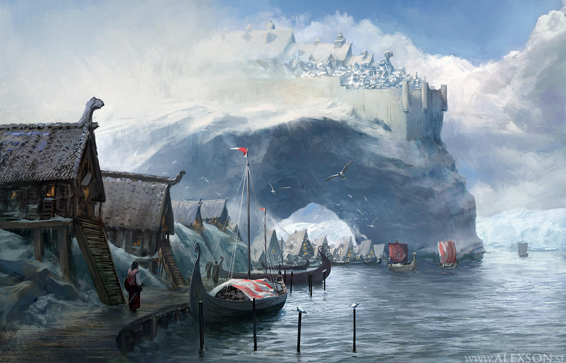 Viking harbor by alexson1