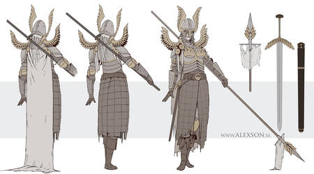 Valkyri daughter concept art by alexson1