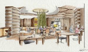 Sushi Restaurant Design by whatistug